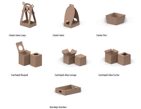 Conheça os diferentes tipos de embalagens Linha Floricultura