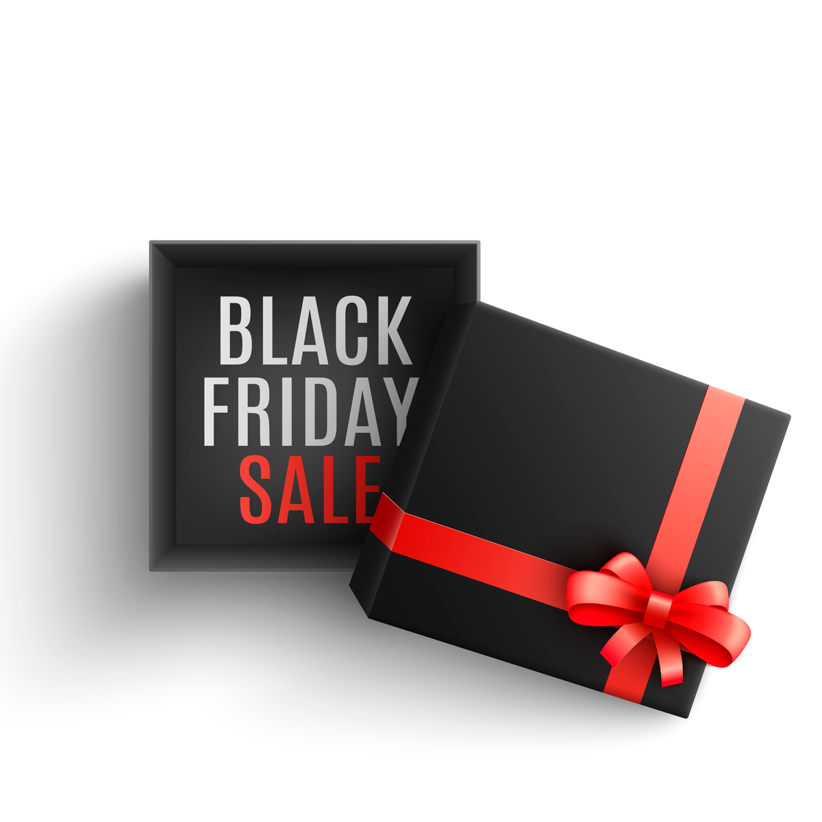 Caixa com escrita Black Friday Sale